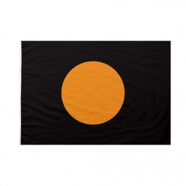 Bandiera Nera con cerchio arancione