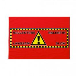 Bandiera Pista sci Pericolo rallentare