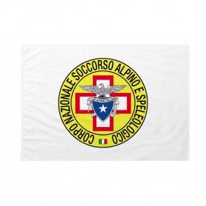 Bandiera CNSAS Corpo Nazionale Soccorso Alpino e Speleologico