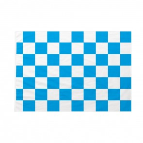 Bandiera Scacchi Bianca e Azzurra