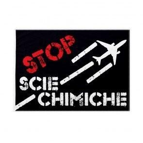 """Bandiera """"Stop scie chimiche"""" 100x150cm in poliestere nautico con asola (3 cm)"""