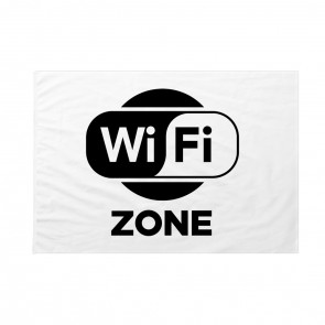 Bandiera WiFi Zone bianca