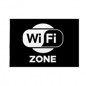 Bandiera WiFi Zone nera