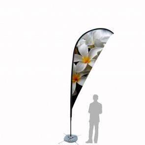 Bandiera Personalizzata per Goccia 4.1 in poliestere nautico con tasca nera